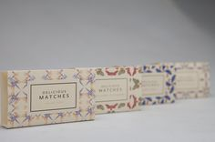 Delicious Matches by Nicolo Arena #packaging #pattern #box #matches #match