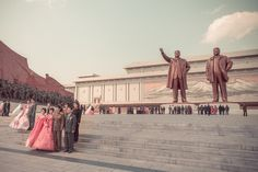 North Korea From The Bus Window by Demi Poulpe