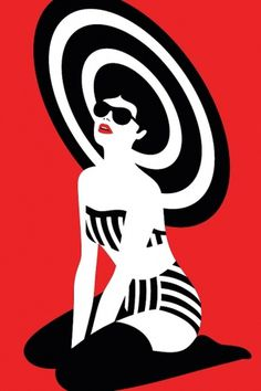 Pin Up - malikafavre #red #malikafavre #pin #illustration #up