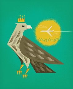 Flickr: Brent Couchman's Photostream #crown #illustration #eagle