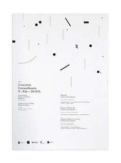 Concierto Extraordinario 2010 on the Behance Network #white #black #nahuelmarin #minimal #poster #murcia #music #concert