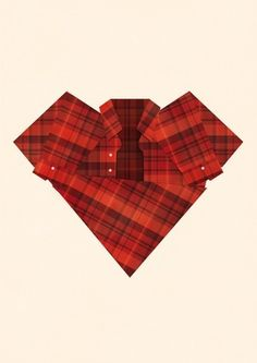 I heart plaid | Society6 #heart #print #plaid #poster #art