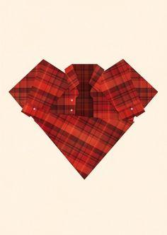 I heart plaid | Society6 #heart #print #plaid #poster #art