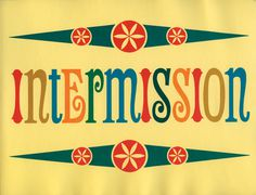Flickr Photo Download: intermission #retro