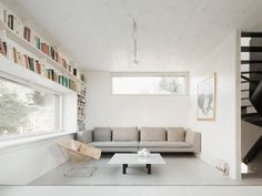 Intimate living room. The Marly House by KARAWITZ. © Schnep Renou. #livingroom #contemporary #window