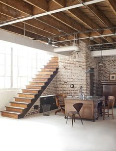 FFFFOUND! #interior #brick #rustic #design #wood #furniture #industrial