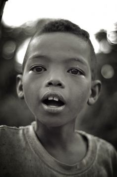 All sizes | Untitled | Flickr - Photo Sharing! #photography #black and white #face #boy #africa #madagascar