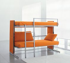 Doc Sofa Bunk Bed transforms into a bunk bed for 2 in a matter of minutes! #product #furniture #design #home