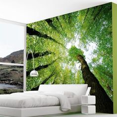 Enchanted Forest Dreams Wall Mural #decal #wall #gadget #ticker