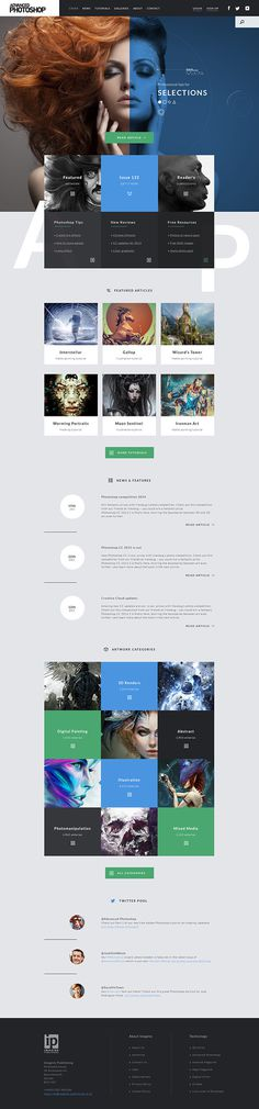 Advanced Photoshop on Behance #photoshop #web #digital #blue #modular #modern