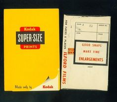 collected photographs: Ilford and Kodak #ilford #prints #wallet #kodak #photography #envelope