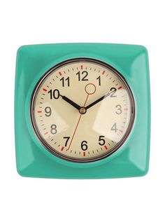 Vibrant Style: Office Decor #clock #retro