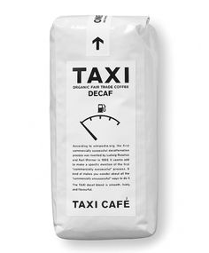 TAXI CAFÉ White | Shiro to Kuro #white #packaging #black #and #coffee #minimalist