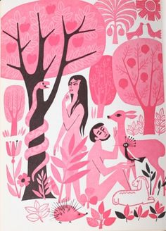 Javier Garcia #illustration #vintage #pink #mid century modern