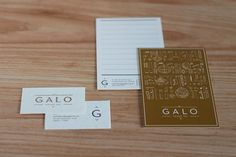 GALO on Behance #branding #stationary #minimalism #simple #brand #identity #art #deco #logo