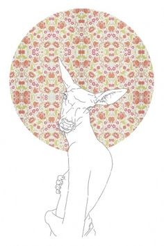 Girls and Geometry : Miguel Naranjo #spain #geometry #miguel #illustration #naranjo #flower #circle #female