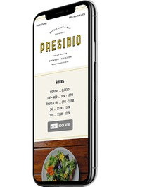 Restaurant Responsive Web Design – Presidio #restaurant #website #design #houston
