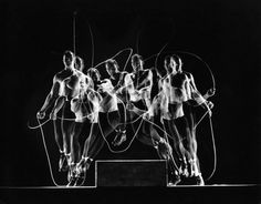 Rope skipping champion Gordon Hathaway | It's About Time: Classic Stroboscopic Photos | LIFE.com #white #multiple #rope #exposure #black #jump #and