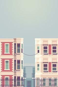 La Telephone #illustration #buildings