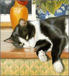 Cat Paintings by Chrissie Snelling