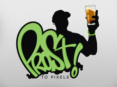 Prost to Pixels #beer #type #illustration #logo #hand