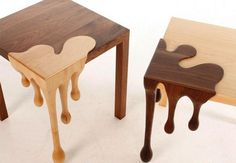Amazing chocolate art funiture two fusion tables #tables #fusion #chocolate #furniture #art