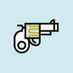 Gun #pictogram #gun #sins #dead #blue
