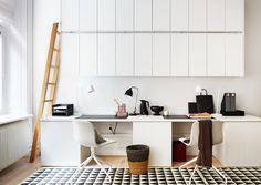 One Pic Wednesday: Home Office in White emmas designblogg #interior #design #decor #office #home #deco #decoration