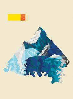 5357482994_df99b4a495.jpg 369×500 pixels #mountain #cubist #poster