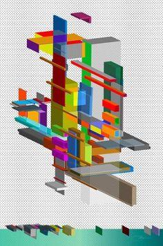 PlatToon #vector #color #geometric #transparent #architecture #art