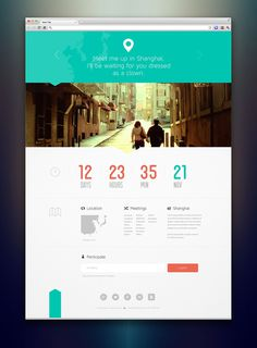Design Trends 2013 Minimalist and Flat #color #dates #time #numbers #layout