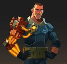 by Matias Hannecke #illustration #character design #robot arm #prosthetic