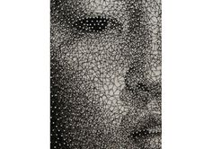 Artist Creates Photorealistic Portraits With Nails And Thread - DesignTAXI.com #thread #constellation #texture #portrait #yamashita #nails #kumi #patterns