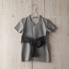 Dress by Minimu Fall/Winter 2011 12 #fashion #ribbon #kids #gray