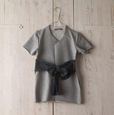 Dress by Minimu Fall/Winter 2011 12 #fashion #ribbon #kids #gray