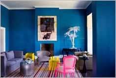 35 Incredible Neon Interior Designs #white #of #wall #blue #awesome #plant