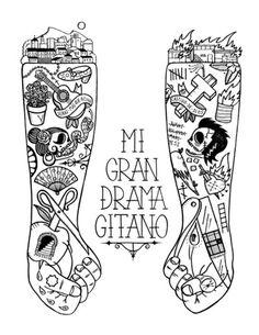 My Big Gipsy Dramaby Viva La Graph! #tattoos #arms