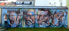 CJWHO ™ (Street Portraits by Rems182 Rems182,'TD',...) #mural #design #illustration #portrait #art #street