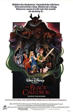 The Black Cauldron Movie Poster #movie #disney #cult #evil #dark #movieposter
