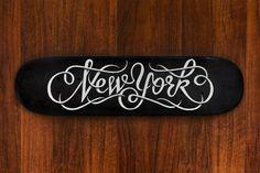 Hand drawn skate deck lettering #lettering #deck #skate #york #hand #new