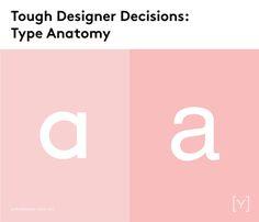 Tough designer decisions - Type anatomy.