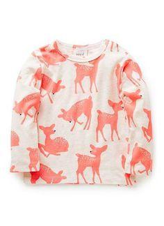Baby Clothes | Bg Long Sleeve Deer Print Tee | Seed Heritage #deer