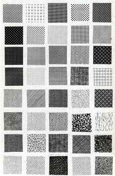Bruno Munari, esempi di textures | Flickr Photo Sharing! #pattern