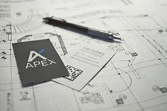 Clarke Harris #business #card #print #plans #identity #architecture #logo #pencil #typography