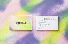 BRAND IDENTITYCOCOLIA2013 #print #business #card #spray paint
