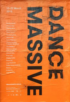 Poster for Chunky Move Dance Massive #poster #typography #orange