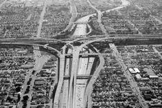 Aufschnitt/ #aerial #los #freeway #image #angeles