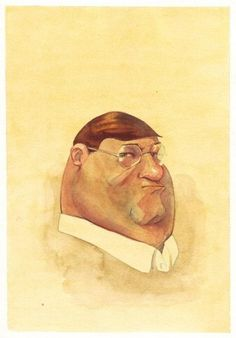 Animation Portrait- cool idea #watercolor #yellow #guy #family