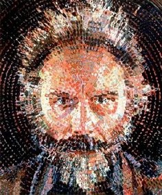 Tumblr #chuck #close #color #dots #paint
