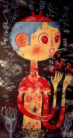 """Electric Palace Lost\"", an older painting I wish I had a better photographique capturing of&"